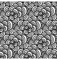 Seamless doodle Simple floral pattern in black vector image vector image