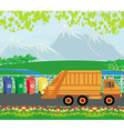 segregation of garbage card vector image vector image