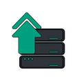 server upload web hosting icon image vector image vector image