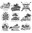 set summer season labels in vintage vector image vector image
