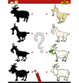 shadows task with goat vector image vector image
