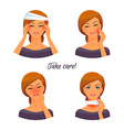Sick woman character image vector image
