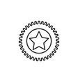 star sticker icon vector image