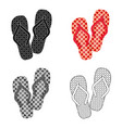 summer rubber flip flopsflip flops single icon in vector image vector image