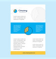 template layout for graph comany profile annual vector image