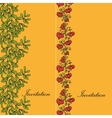 Two design card with mistletoe and physalis vector image