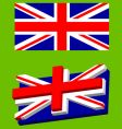 union jack flag vector image vector image