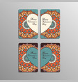 Valentines day cards with mandala vector image