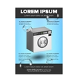 Washing machine leaflet design vector image vector image