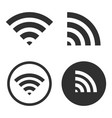 wifi icon sign shape button set sharp vector image