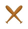 Baseball crossed bats icon cartoon style vector image