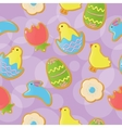 Seamless Easter cookie background vector image