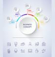 business concept scheme on vector image