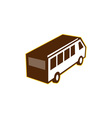 Van High Angle View Isolated Retro vector image