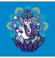 Ganesha With Ornate Mandala vector image