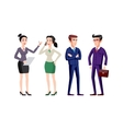 business people group human resources flat vector image