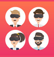 businessman use virtual reality web page concept vector image