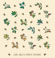 childs forest elements seamless texture vector image