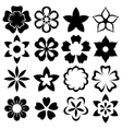 flowers icons vector image