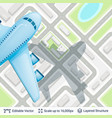 abstract city plan and airplane vector image vector image
