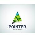Arrow pointer logo business branding icon vector image