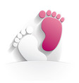 baby girl icon paper vector image