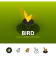 Bird icon in different style vector image vector image
