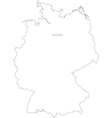 Black White Germany Outline Map