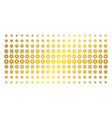 cog golden halftone pattern vector image