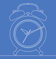 continuous one line alarm clock concept vector image