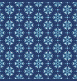 cornflowers floral seamless pattern in blue colors vector image