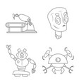 design of robot and factory symbol set of vector image