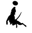 dog-frisbee black vector image vector image