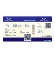 fake plane ticket vector image vector image