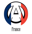 flag of france of the world in the form of a sign vector image vector image