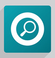 flat search icon vector image vector image