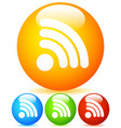 generic signal or rss feed shape vibrant icons vector image