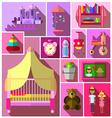 Girls bedroom furniture sets vector image vector image