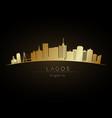 golden logo lagos skyline silhouette vector image vector image