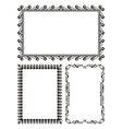 gray metal frames - set vector image