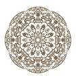 Hand drawn henna tattoo mandala lace