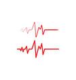 health medical heartbeat pulse vector image