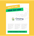 house title page design for company profile vector image