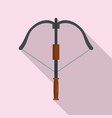 hunt crossbow icon flat style vector image vector image
