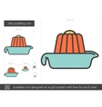 Jelly pudding line icon vector image vector image