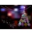 Magic Christmas Tree on abstract colorful vector image vector image