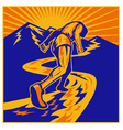 Marathon road runner jogger fitness vector | Price: 1 Credit (USD $1)