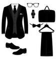 men s accessories flat design vector image