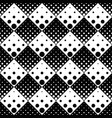 monochrome abstract seamless geometrical dot vector image vector image