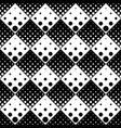 monochrome abstract seamless geometrical dot vector image vector image